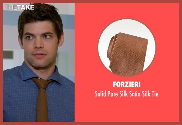 Forzieri brown tie from Supergirl seen with Winn Schott  (Jeremy Jordan)