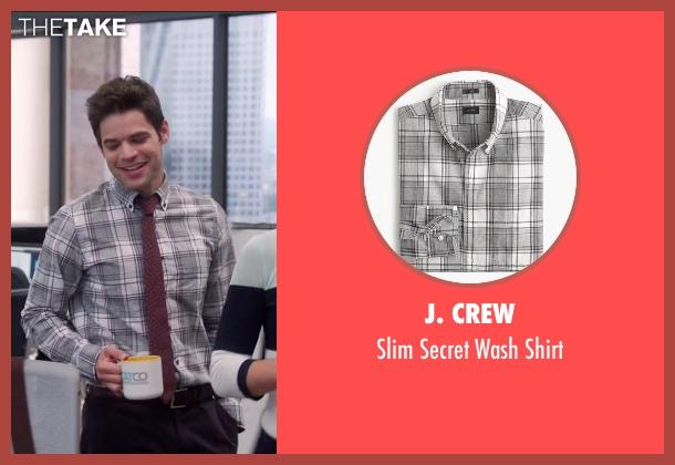 J. Crew gray shirt from Supergirl seen with Winn Schott  (Jeremy Jordan)