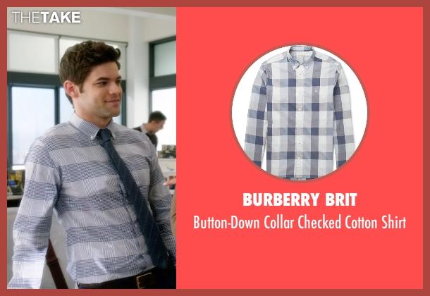 Burberry Brit gray shirt from Supergirl seen with Winn Schott  (Jeremy Jordan)