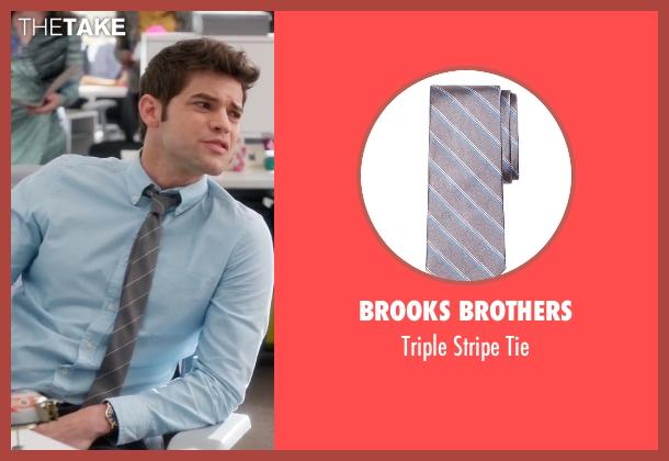 Brooks Brothers gray tie from Supergirl seen with Winn Schott  (Jeremy Jordan)