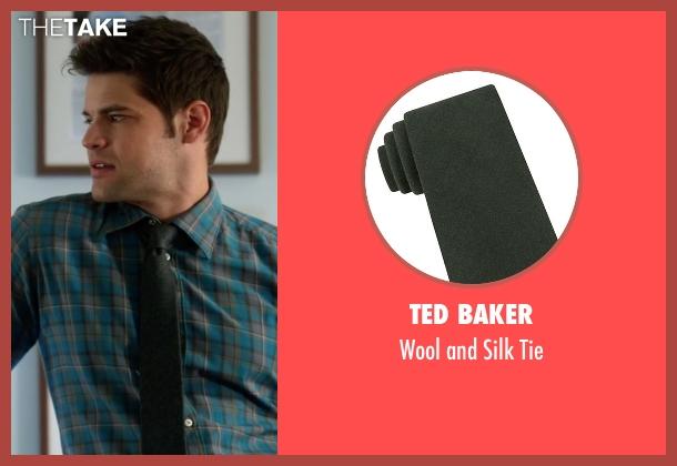 Ted Baker green tie from Supergirl seen with Winn Schott  (Jeremy Jordan)