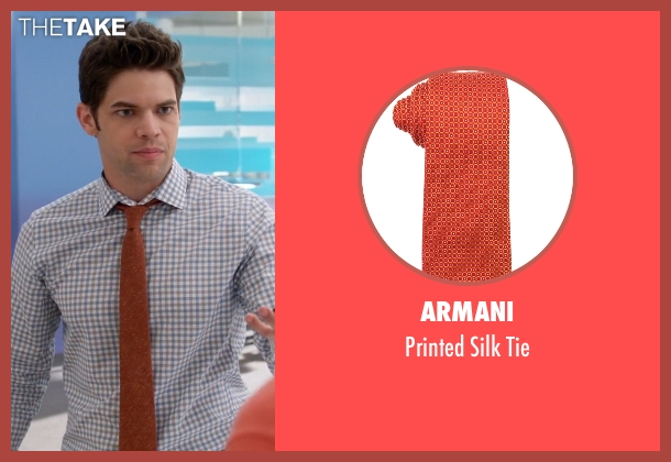 Armani orange tie from Supergirl seen with Winn Schott  (Jeremy Jordan)