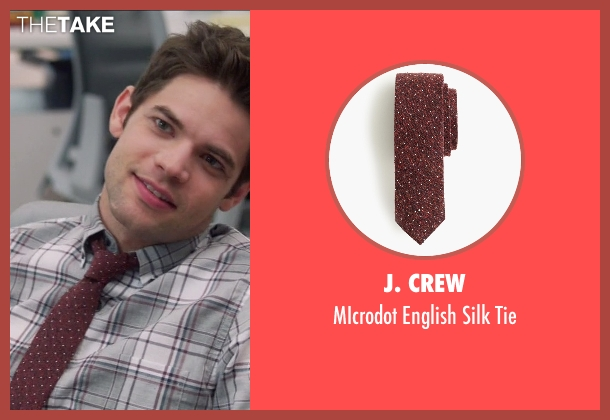 J. Crew red tie from Supergirl seen with Winn Schott  (Jeremy Jordan)