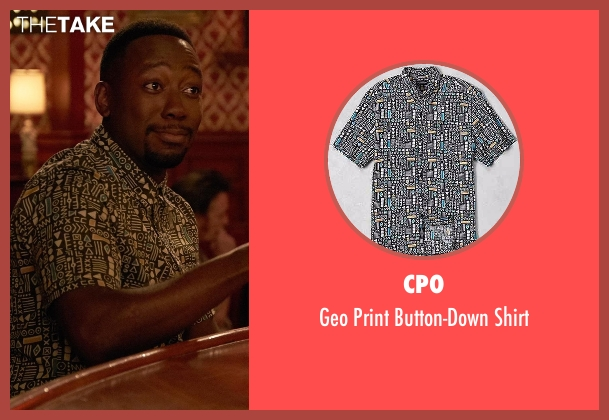 CPO black button-down shirt from New Girl seen with Winston Bishop (Lamorne Morris)