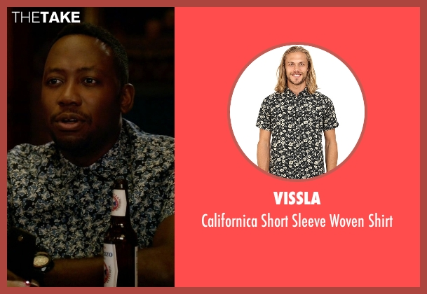 Vissla black shirt from New Girl seen with Winston Bishop (Lamorne Morris)