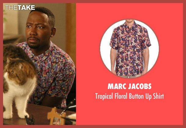 Marc Jacobs black shirt from New Girl seen with Winston Bishop (Lamorne Morris)