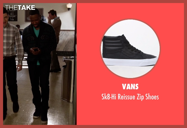 Vans black shoes from New Girl seen with Winston Bishop (Lamorne Morris)