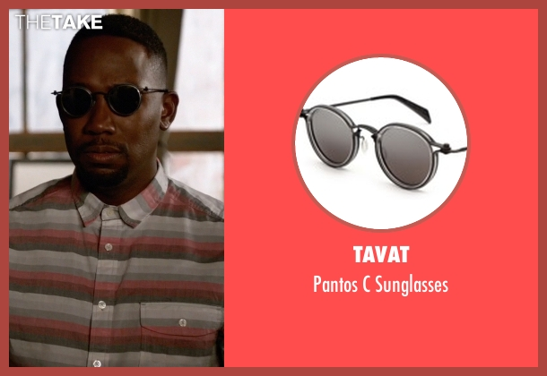 Tavat black sunglasses from New Girl seen with Winston Bishop (Lamorne Morris)