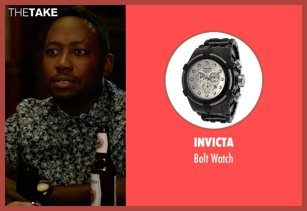 Invicta black watch from New Girl seen with Winston Bishop (Lamorne Morris)