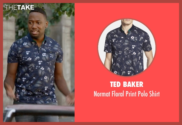 Ted Baker blue shirt from New Girl seen with Winston Bishop (Lamorne Morris)