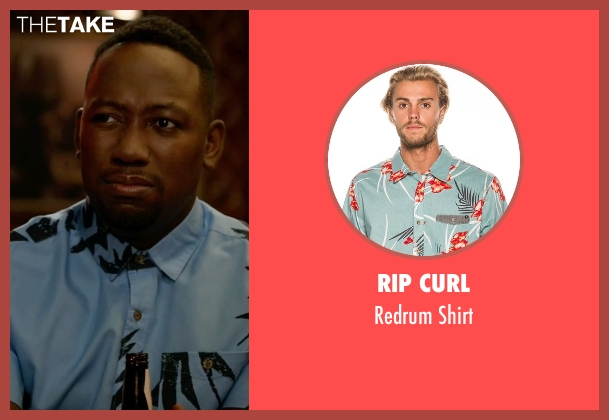 Rip Curl blue shirt from New Girl seen with Winston Bishop (Lamorne Morris)