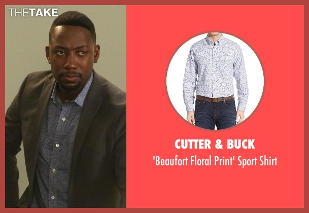 Cutter & Buck blue shirt from New Girl seen with Winston Bishop (Lamorne Morris)
