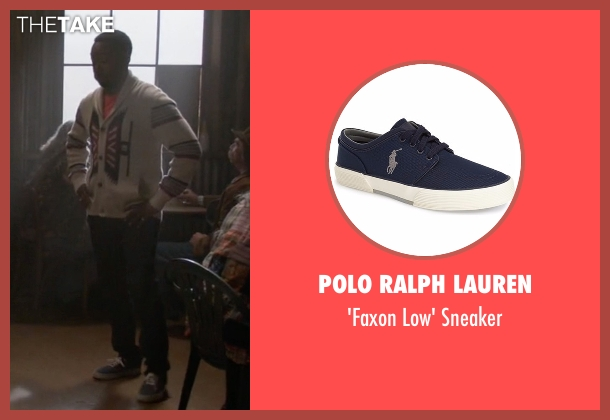 Polo Ralph Lauren blue sneaker from New Girl seen with Winston Bishop (Lamorne Morris)