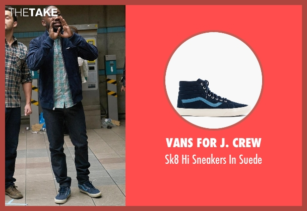 Vans For J. Crew blue suede from New Girl seen with Winston Bishop (Lamorne Morris)