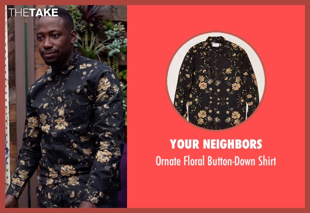 Your Neighbors button-down shirt from New Girl seen with Winston Bishop (Lamorne Morris)
