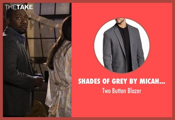 Shades Of Grey By Micah Cohen gray blazer from New Girl seen with Winston Bishop (Lamorne Morris)