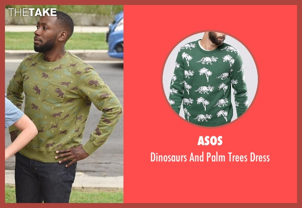 Asos green dress from New Girl seen with Winston Bishop (Lamorne Morris)