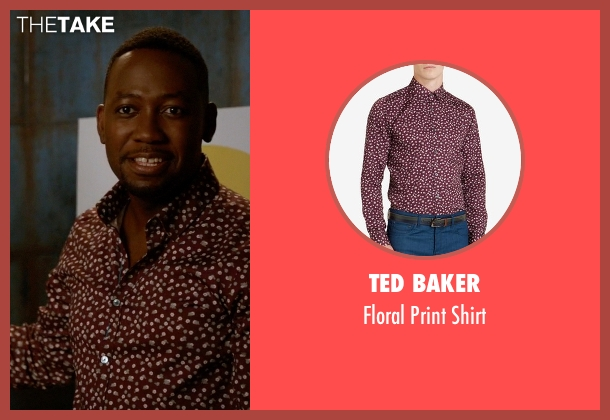 Ted Baker red shirt from New Girl seen with Winston Bishop (Lamorne Morris)