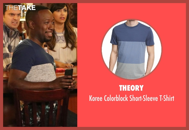 Theory t-shirt from New Girl seen with Winston Bishop (Lamorne Morris)