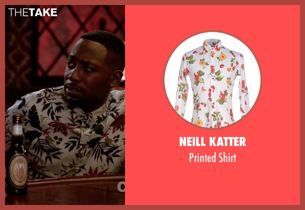 Neill Katter  white shirt from New Girl seen with Winston Bishop (Lamorne Morris)