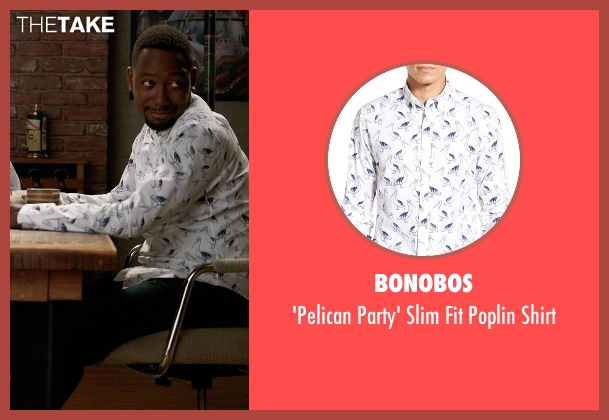 Bonobos white shirt from New Girl seen with Winston Bishop (Lamorne Morris)