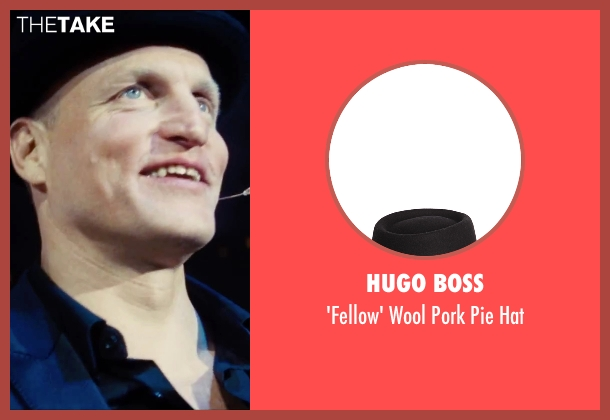 Hugo Boss black hat from Now You See Me 2 seen with Woody Harrelson (Merritt McKinney)