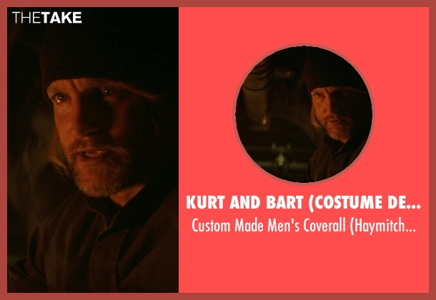 Kurt and Bart (Costume Designer) black coverall from The Hunger Games: Mockingjay Part 1 seen with Woody Harrelson (Haymitch Abernathy)