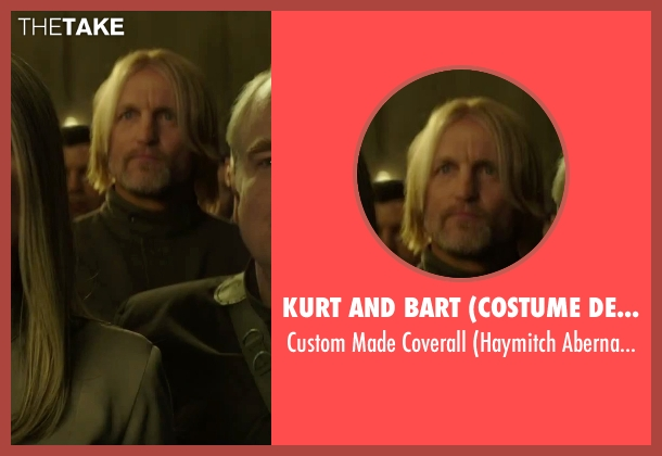 Kurt and Bart (Costume Designer) black coverall from The Hunger Games: Mockingjay - Part 2 seen with Woody Harrelson (Haymitch Abernathy)