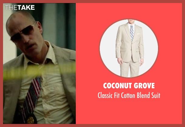 Coconut Grove beige suit from Triple 9 seen with Woody Harrelson (Sergeant Detective Jeffrey Allen)