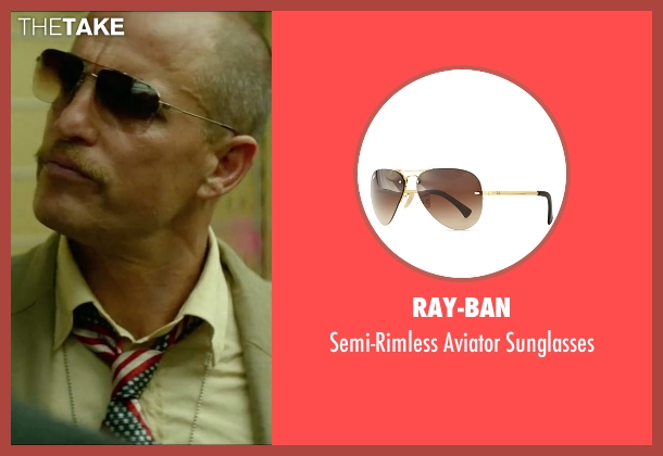 Ray-Ban brown sunglasses from Triple 9 seen with Woody Harrelson (Sergeant Detective Jeffrey Allen)