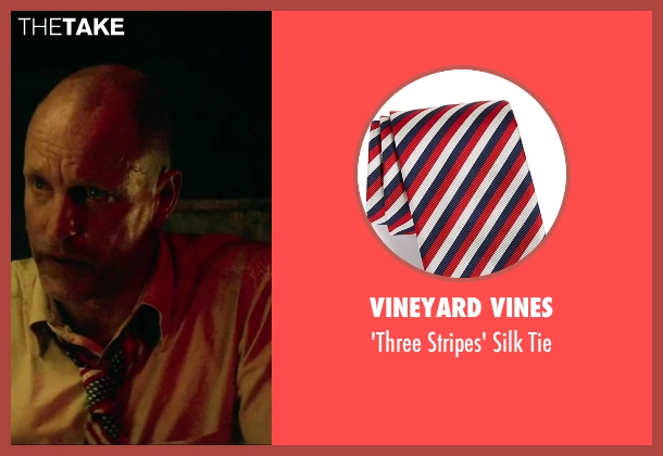 Vineyard Vines red tie from Triple 9 seen with Woody Harrelson (Sergeant Detective Jeffrey Allen)