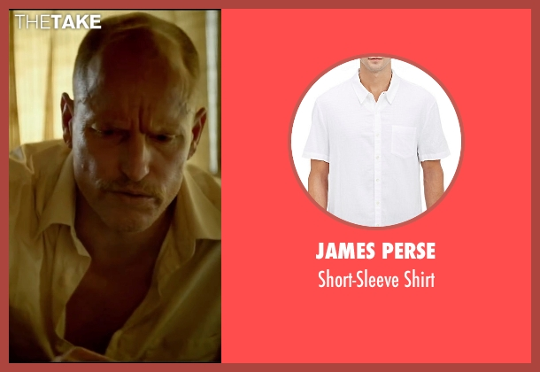 James Perse white shirt from Triple 9 seen with Woody Harrelson (Sergeant Detective Jeffrey Allen)