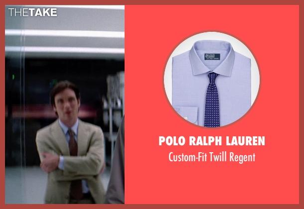 Polo Ralph Lauren purple regent from Transcendence seen with Xander Berkeley (Dr. Thomas Casey)