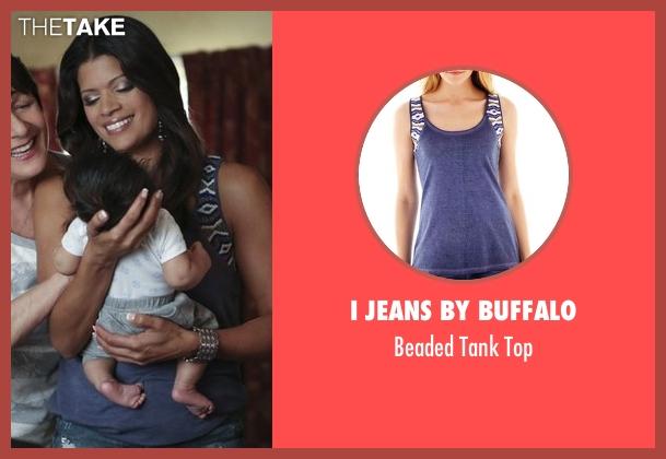 I Jeans by Buffalo blue top from Jane the Virgin seen with Xiomara Villanueva (Andrea Navedo)