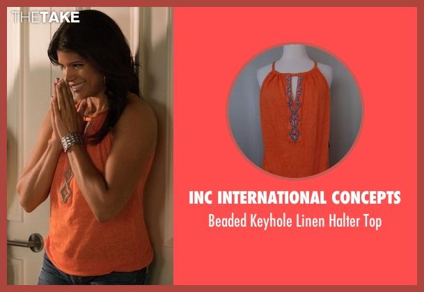 Inc International Concepts orange top from Jane the Virgin seen with Xiomara Villanueva (Andrea Navedo)