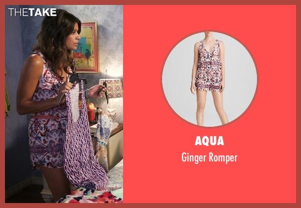 Aqua pink romper from Jane the Virgin seen with Xiomara Villanueva (Andrea Navedo)