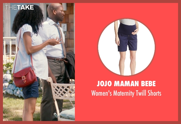 JoJo Maman Bebe blue shorts from And So It Goes seen with Yaya DaCosta (Kennedy)