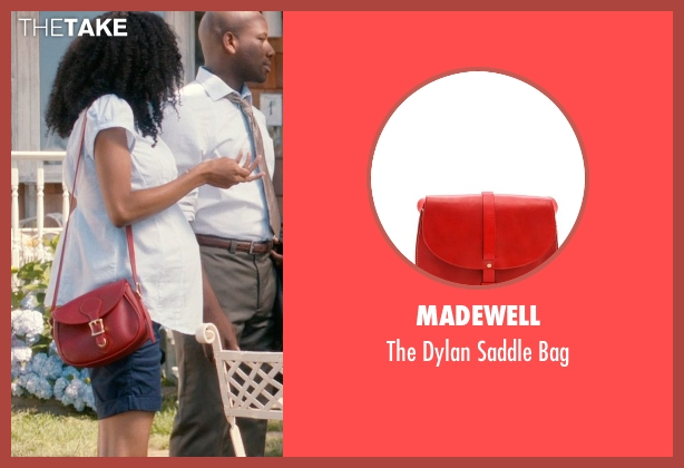 Madewell red bag from And So It Goes seen with Yaya DaCosta (Kennedy)
