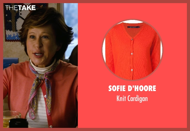 Sofie D'hoore orange cardigan from New Year's Eve seen with Yeardley Smith (Maude)