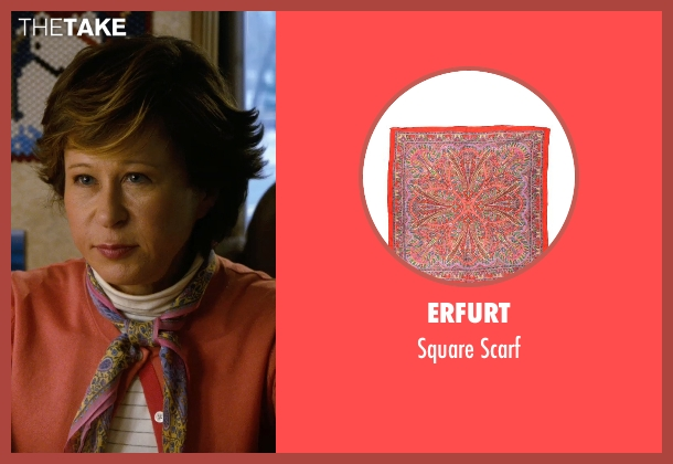Erfurt red scarf from New Year's Eve seen with Yeardley Smith (Maude)