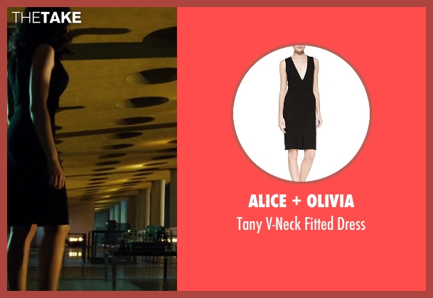 Alice + Olivia black dress from A Good Day to Die Hard seen with Yuliya Snigir (Irina)