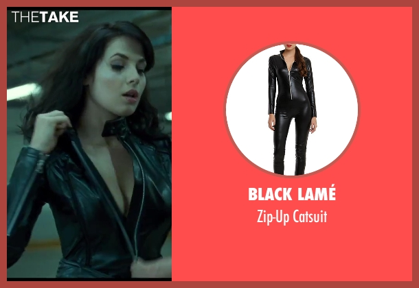 Black Lamé catsuit from A Good Day to Die Hard seen with Yuliya Snigir (Irina)