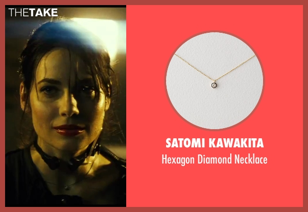 Satomi Kawakita gold necklace from A Good Day to Die Hard seen with Yuliya Snigir (Irina)