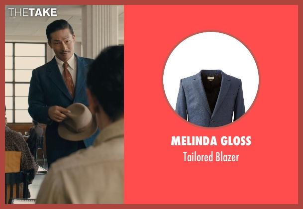 Melinda Gloss blue blazer from Unbroken seen with Yutaka Izumihara (Radio Tokyo Man)