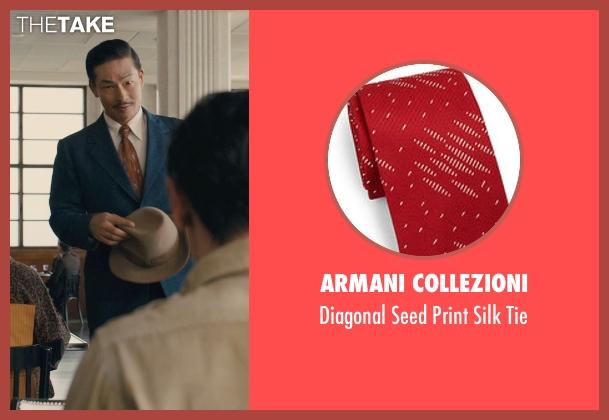 Armani Collezioni red tie from Unbroken seen with Yutaka Izumihara (Radio Tokyo Man)