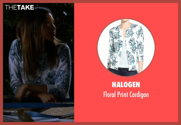 Halogen white cardigan from Pretty Little Liars seen with Yvonne Phillips (Kara Royster)
