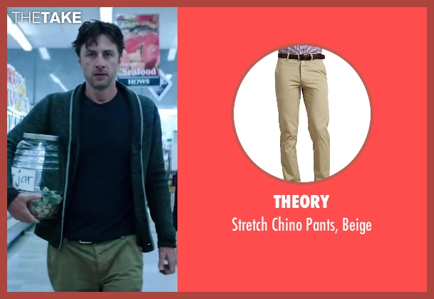 Theory beige beige from Wish I Was Here seen with Zach Braff (Aidan Bloom)