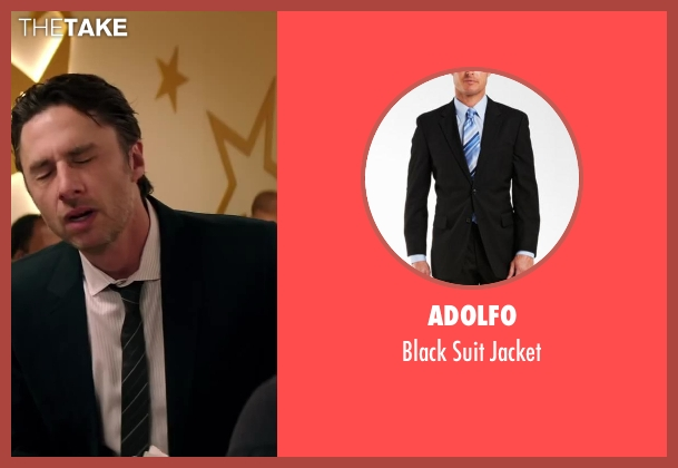 Adolfo black jacket from Wish I Was Here seen with Zach Braff (Aidan Bloom)