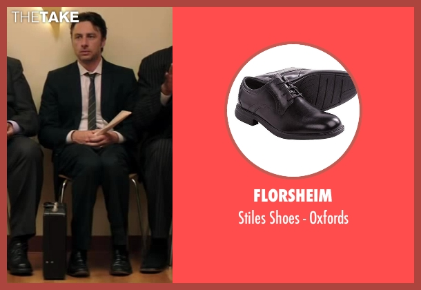 Florsheim black oxfords from Wish I Was Here seen with No Actor (Aidan Bloom)