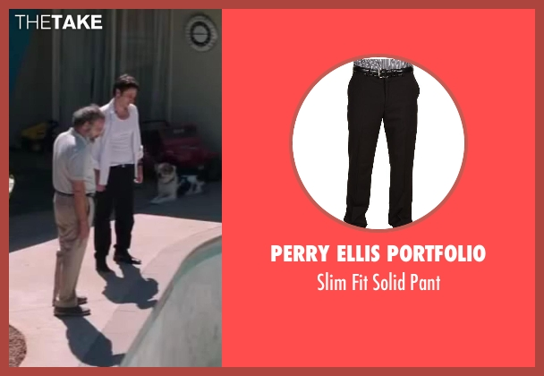 Perry Ellis Portfolio black pant from Wish I Was Here seen with Zach Braff (Aidan Bloom)
